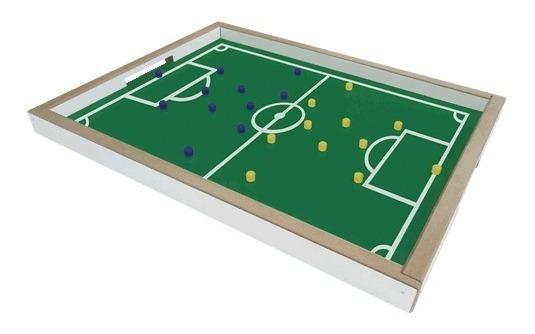 Brinquedo Jogo Dedobol Mini Campo Futebol Madeira 610 Junges