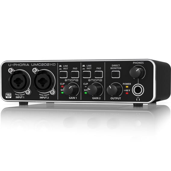 Interface De Audio Behringer U-phoria Umc202hd - Usb