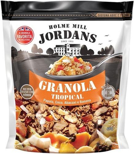 Imagem 1 de 5 de Granola Cereal Jordans Tropical Papaia Coco Abacaxi 400g