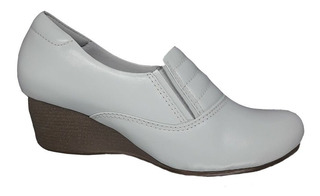 Sapato Mocassim Feminino Neftali Comfort Salto Anabela 4104
