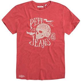 Playera Pepe Jeans Pm502039 Roja Talla Grande*jcvboutique*