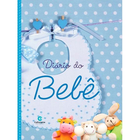 Livro Diário Do Bebê E Mamães Capa Dura Menino Azul