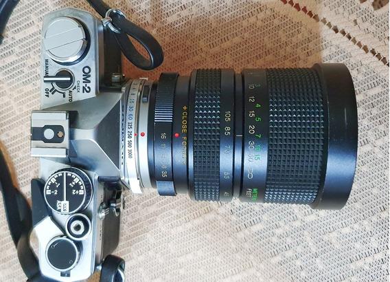 Camera Olympus Om2 E Lente Vivitar 35-105 - Excelente Estado