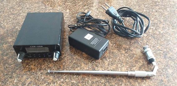 Cze-05b 0.5w Transmissor Fm Stereo 108 Mhz Semi Novo.