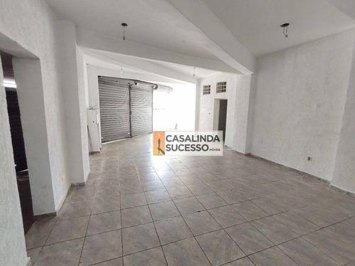 Salão Para Alugar, 70 M² Por R$ 2.000,00/mês - Vila Dalila - São Paulo/sp - Sl0085