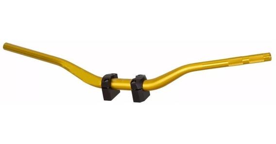 Guidão Esportivo Fat Bar Dourado Alto Lander Xtz Xre Xt660