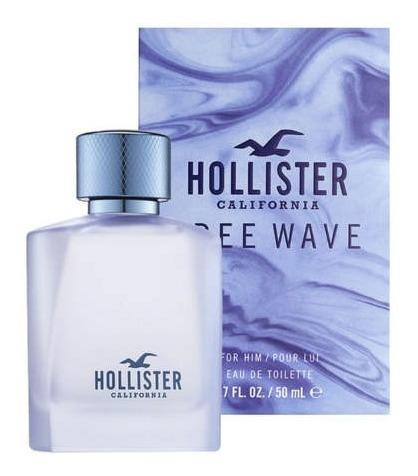 Hollister Free Wave 50ml Masculino + Amostra De Brinde