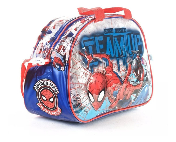 Bolso Playero Spiderman Wabro 11218 Oval Original Educando