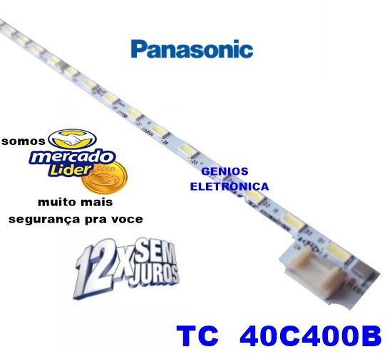 Barra De Led Tv Panasonic Tc 40c400b Modelo Tc40c400b Nova
