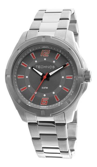 Relógio Masculino Technos 2036lod/1r 44mm Pulseira Aço Prata