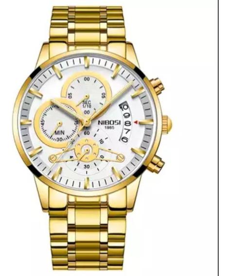 Relógio Masculino Nibosi 2309.1 Luxo Original Funcional