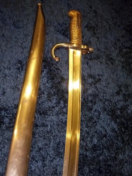 Espada Francesa Chassepot Yataghan / Bayoneta + Bainha 1870
