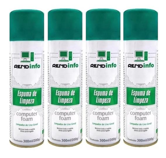 04 Espuma Limpeza Antiestática Computer Foam - Spray 300ml