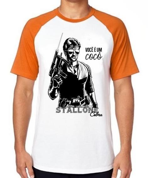 Camiseta Luxo Stallone Cobra Você É Um Cocô Rambo Filme