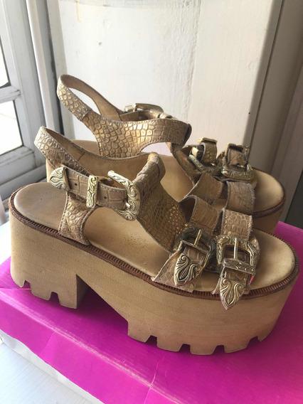 Zapatos Sofia De Grecia Dorados