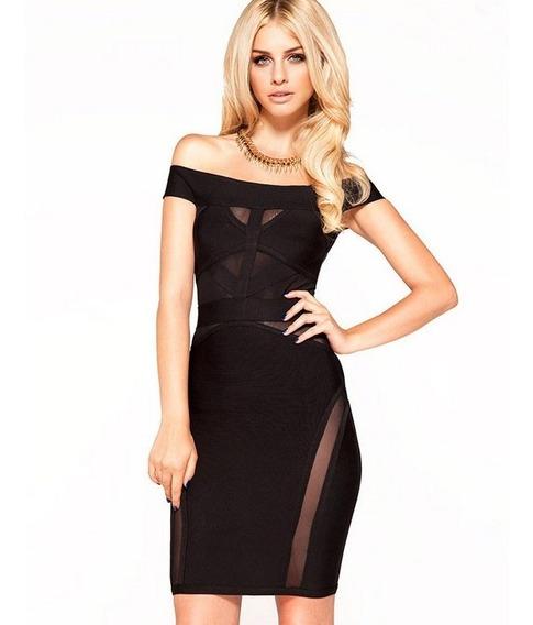Vestido Curto Black Transparente Luxo Na Moda
