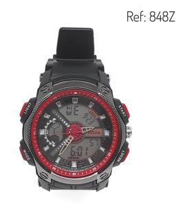 Reloj Hombre Marca Xinjia Doble Hora 848z Sumergible 50mt