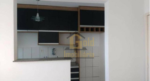 Apartamento Com 2 Dormitórios Para Alugar, 47 M² Por R$ 1.100,00/mês - Reserva Sul Condomínio Resort - Ribeirão Preto/sp - Ap2859
