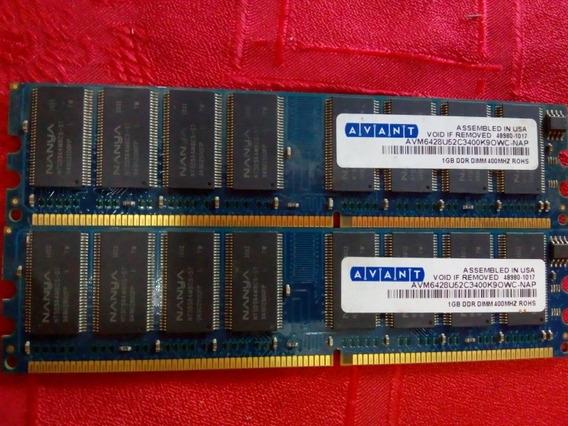 Memorias Ram Avant Ddr 400 Mhz 2x1 Gigas