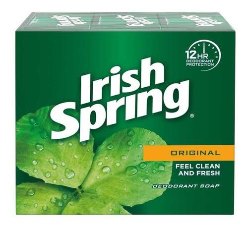 Imagen 1 de 2 de Jabón Irish Spring 104gr
