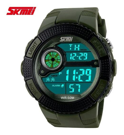 Relógio Esportivo Skmei 1027 Pulso Militar Masculino Digital