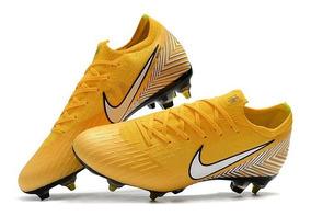 Chuteira Nike M. Vapor Xll Elite Sg Campo Amarela Original :
