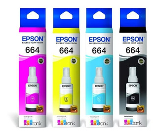 Combo Tinta Epson Original 664 L210 L220 L355 L365 L565 T664