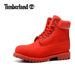 Bota Timberland Roja Hombre Y Mujer