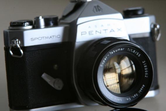 Camara Pentax Spormatic Lente 55mm 1.8f