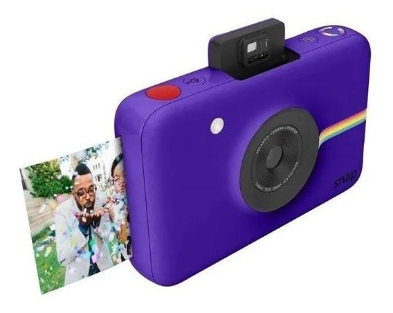 Câmera Polaroid Snap Instant Print Digital Roxa