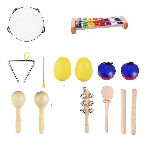 Juguete Musical, Instrumento De Percusión De 9 Piezas