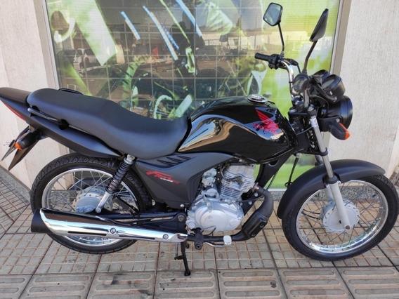 Honda Cg 125 Fan Es Preta 2012