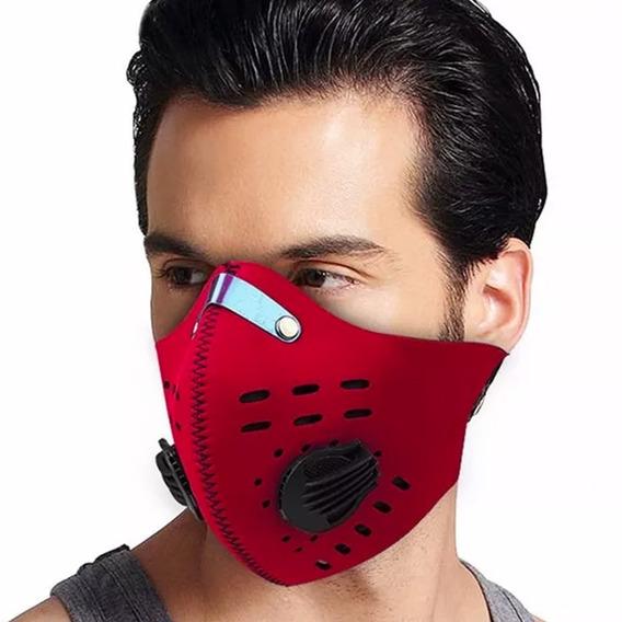 Mascara De Neopreno Para Bicicleta Motociclista Rojo D1041
