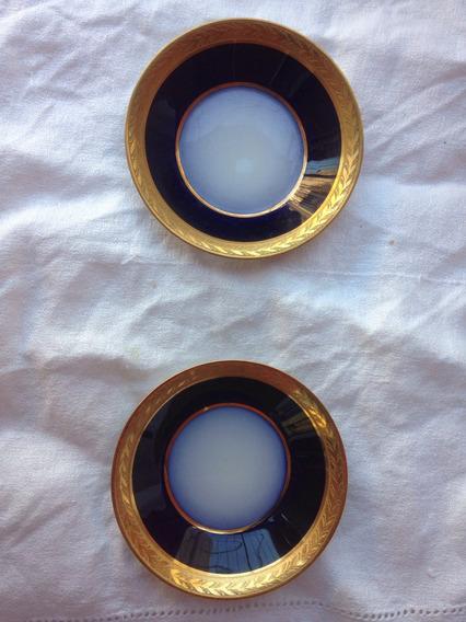 Platito Azul Cobalto Y Oro Est. Imperconfiteria Del Gas