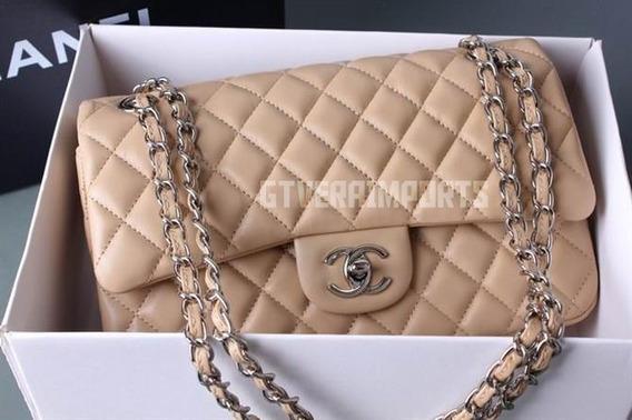 Bolsa Chanel Classic 2.55 (média) Couro Na Caixa Prata