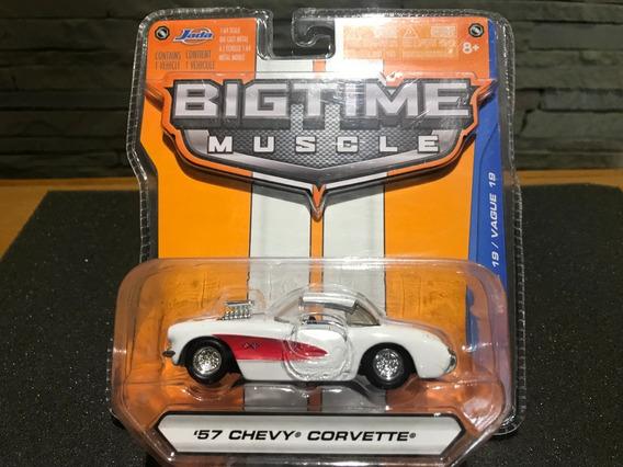 Jada Bigtime Muscle 57 Corvette 1:64 - Lacrado.