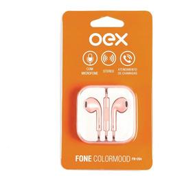 Fone De Ouvido Colormood Fn204 Rosa Metálico Oex