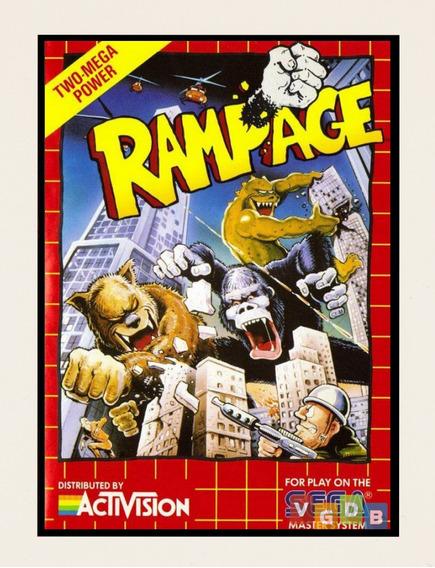 Poster Placa Decorativa Rampage Sega Master System Megadrive