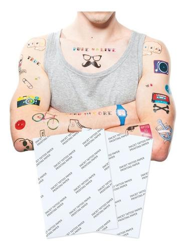 Papel Imprimible Para Tatuajes Carta Impresora  Inkjet