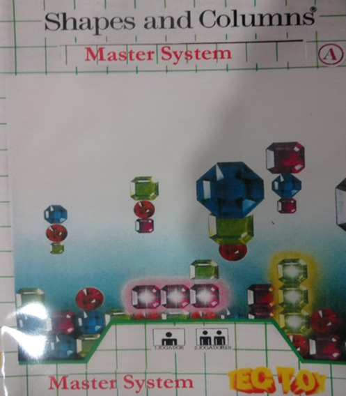 Jogo De Master System -shapes And Columns - ( Tec Toy )