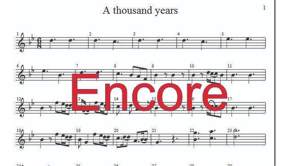 Partitura A Thousand Years Formato Encore