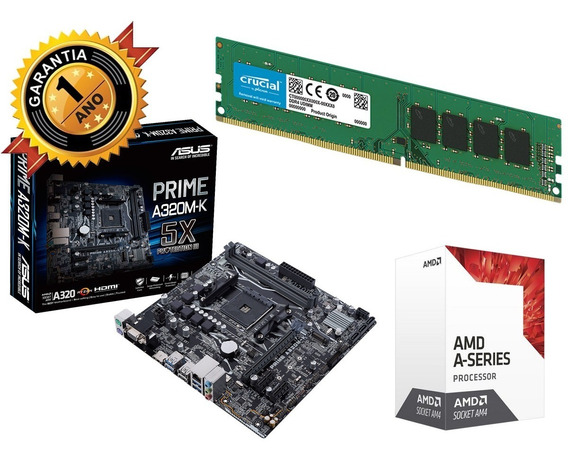 Combo Kit Actualización Gamer Amd A8 9600 Asus 8gb Royal