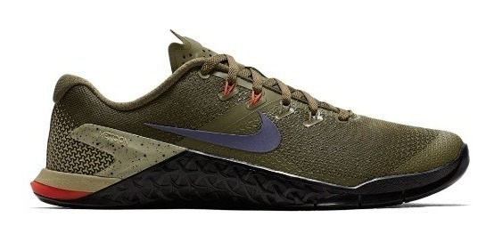 Tênis De Treino Crossfit Masc Nike Metcon 4 Verde Exército