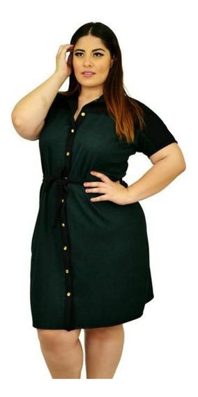 Talla Extra Vestido Estilo Camisa, Modelo #v4076