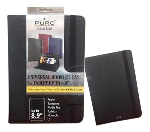 Estuche Protector Para Tablets Agen Puro Hasta 8.9 Negro
