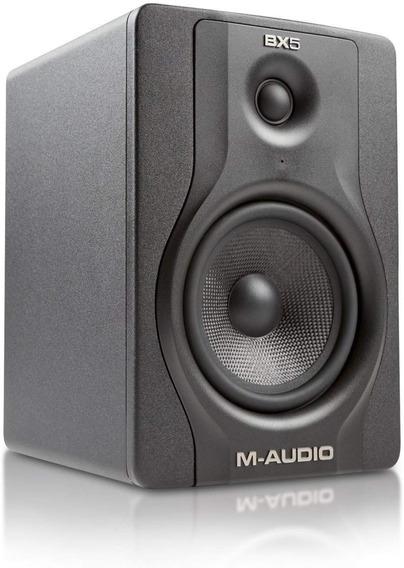 Monitor M-audio Bx5 Carbon Black Prof. Par Novo Na Caixa
