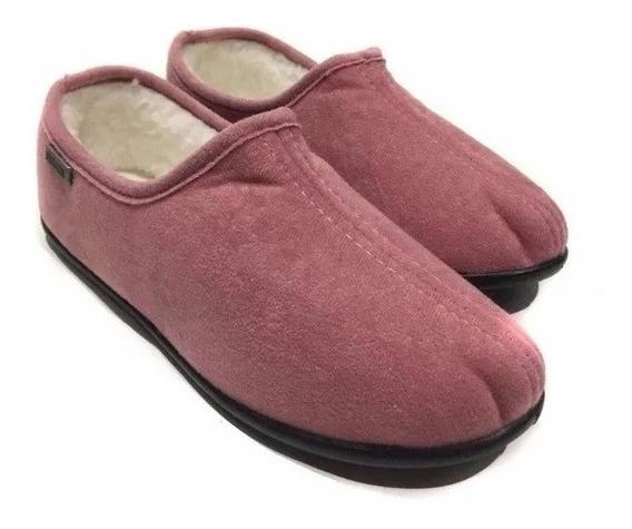 Pantufla Cerrada Con Corderito, Peluche Tipo Zapato 35-45