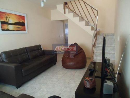 Sobrado Com 2 Dormitórios À Venda, 113 M² Por R$ 385.000,00 - Jardim Valéria - Guarulhos/sp - Ai9788