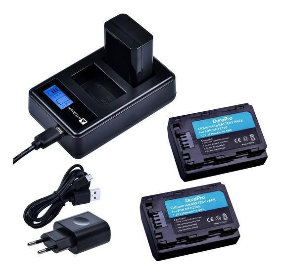 Carregador Duplo +2x Bateria Np-fz100 Sony A9 A7iii Fz100