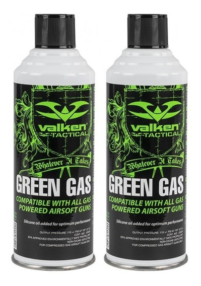2 Latas Green Gas 8oz Valken